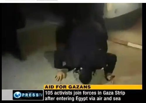 کاروان اسیایی در غزه 1