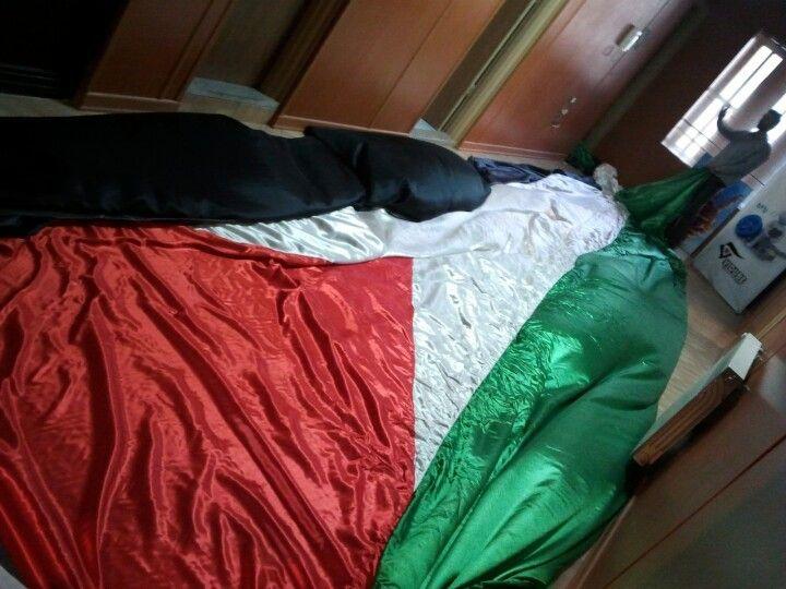 دفتر امت و یک پرچم بزرگ فلسطین !