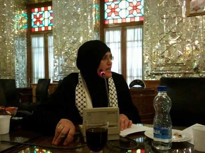 فاطمه الزق در بازدید از مجلس