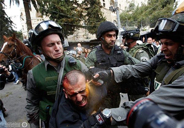 حمله نیروهای رژیم صهیونیستی به فلسطینیان در روز زمین،(قلندیا)