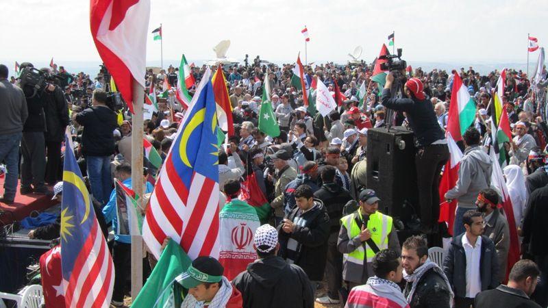 تظاهرات برای آزادی قدس در روز زمین در لبنان