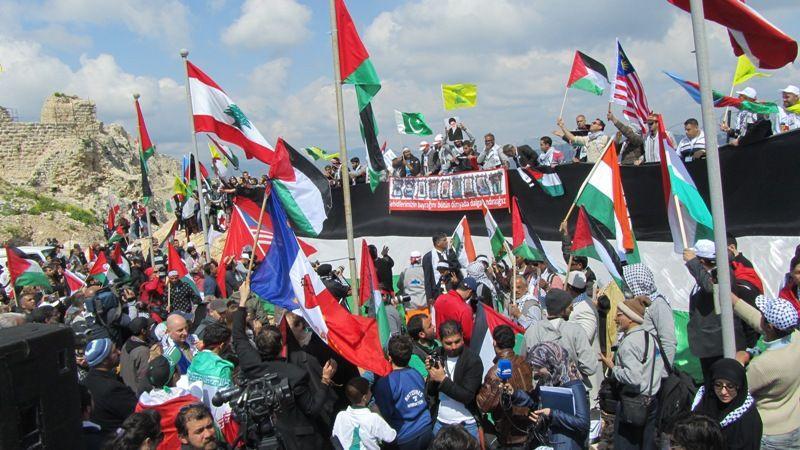 تظاهرات برای آزادی قدس در روز زمین در لبنان 6