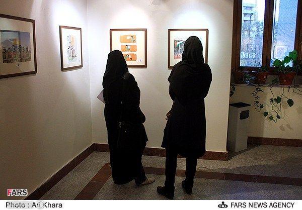 نمایشگاه آثار جشنواره کاریکاتور بازگشت به خانه 2