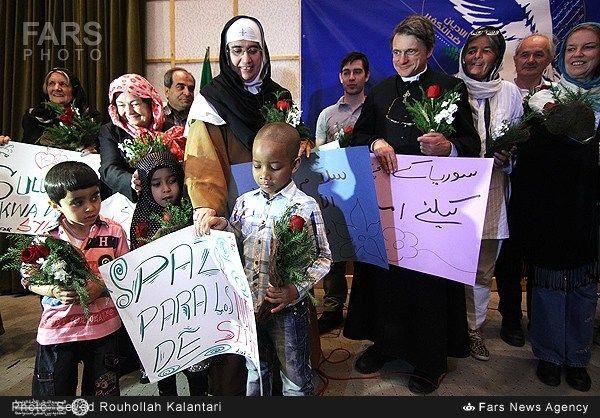 زائران صلح سوریه در قم 4