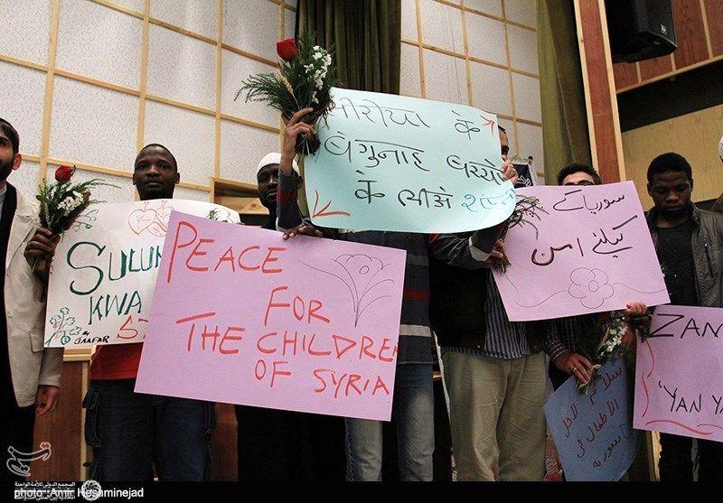 زائران صلح سوریه در قم 7
