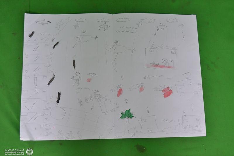 نقاشی ایتام غزه 3