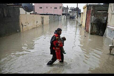 سیل در غزه