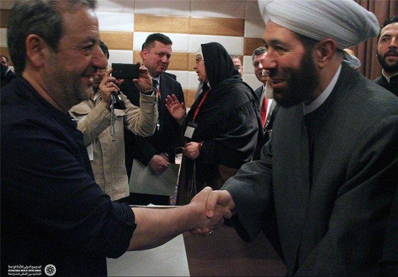 کاروان زائران صلح سوریه- جلسه با شیخ حسون
